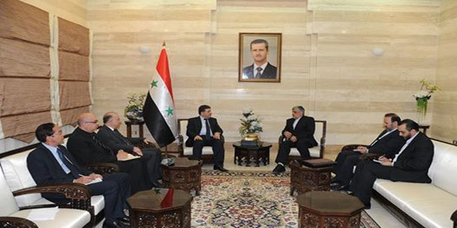 الحلقي للسفير الإيراني: سورية استطاعت التصدي للإرهاب بفضل تلاحم شعبها وجيشها ودعم الدول الصديق