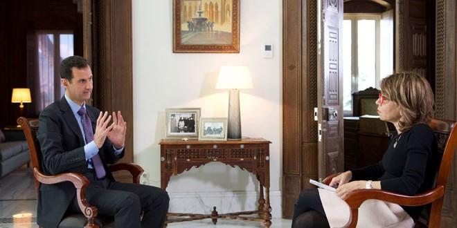 Photo of الرئيس الأسد في مقابلة مع صحيفة صنداي تايمز: بريطانيا وفرنسا لا تمتلكان الإرادة لمحاربة الإرهاب ولا الرؤية حول كيفية إلحاق الهزيمة به.. وضرباتهما الجوية غير قانونية ولن تحقق أي نتيجة