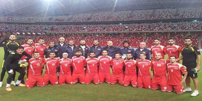 Photo of منتخب سورية للرجال بكرة القدم يتقدم سبعة مراكز في تصنيف الفيفا