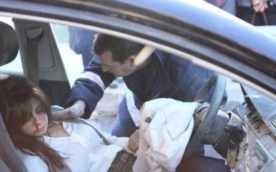 Photo of بالصور – الممثلة السورية كاريس بشار تتعرض لحادث سير مروّع