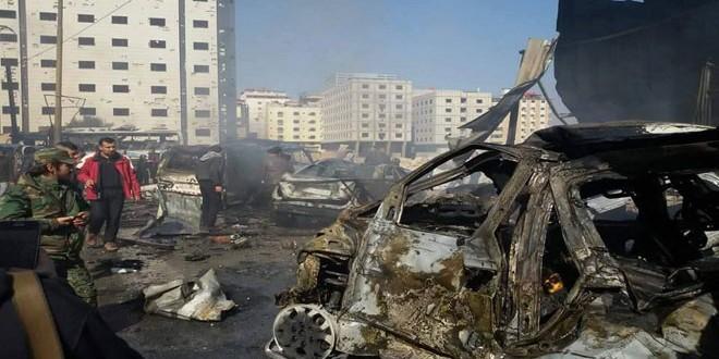 Photo of ارتقاء 45 شهيدا وإصابة 40 شخصا جراء ثلاثة تفجيرات إرهابية في بلدة السيدة زينب بريف دمشق