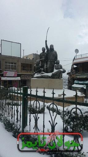 Photo of الثلوج في مجدل شمس وبقعاثا تصوير زوار الموقع