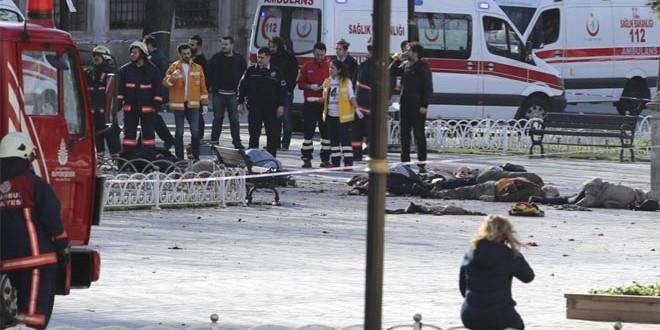 Photo of مقتل عشرة أشخاص وإصابة 15 آخرين في انفجار وسط اسطنبول