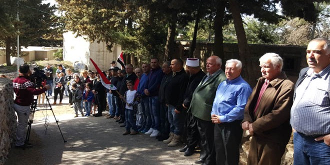 Photo of أهلنا في الجولان السوري المحتل يحيون ذكرى ثورة الثامن من آذار ويؤكدون أنهم سيبقون الأوفياء لقيمها