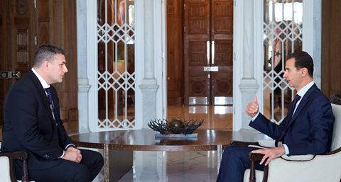 """Photo of الرئيس الأسد لقناة """"اس بي اس"""" الاسترالية: سورية تريد جهداً حقيقياً لمكافحة الإرهاب وليس استعراضياً .. نحن لسنا ضد التعاون مع الولايات المتحدة على أساس المصالح المشتركة"""