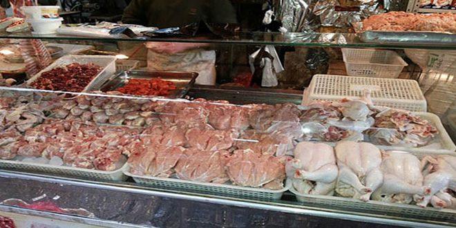 Photo of لجنة من غرفة تجارة دمشق وريفها.. انخفاض أسعار المواد الاستهلاكية وارتفاع أسعار الفروج واللحوم