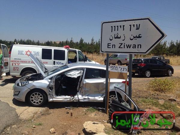 حادث سير على طريق باب الهوى المنصوره