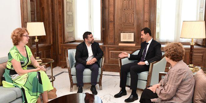 Photo of الرئيس الأسد لوفد من البرلمان الأوروبي: أهمية دور البرلمانيين الأوروبيين في تصويب السياسات الخاطئة لبعض حكوماتهم والتي أدت إلى تفشي ظاهرة الإرهاب وتدهور الأوضاع المعيشية للسوريين