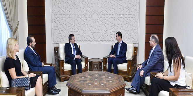 Photo of الأسد للوفد اليوناني: مستمرون بالدفاع عن الوطن