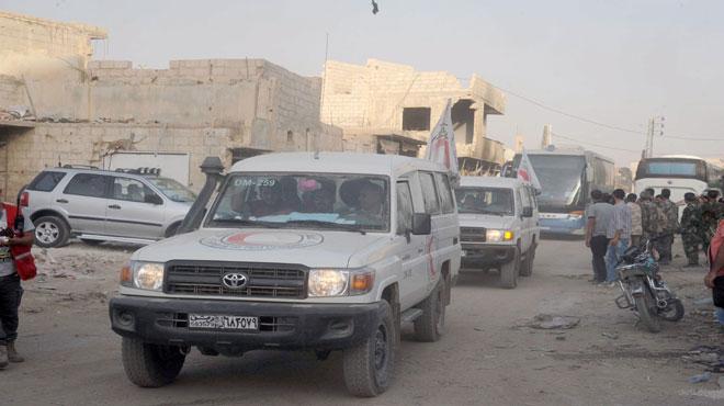 Photo of ٱخلاء داريا من المدنيين والمسلحين