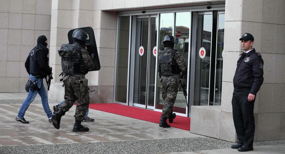 Photo of محاولة اقتحام القنصلية الاسرائيلة بتركيا