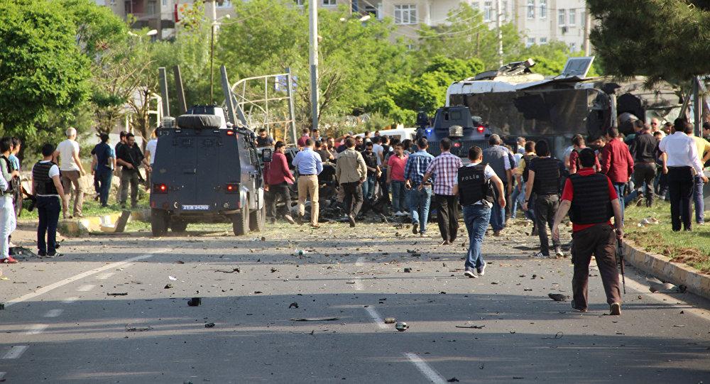 Photo of انفجار بمقر لشرطة التركية قرب الحدود السورية