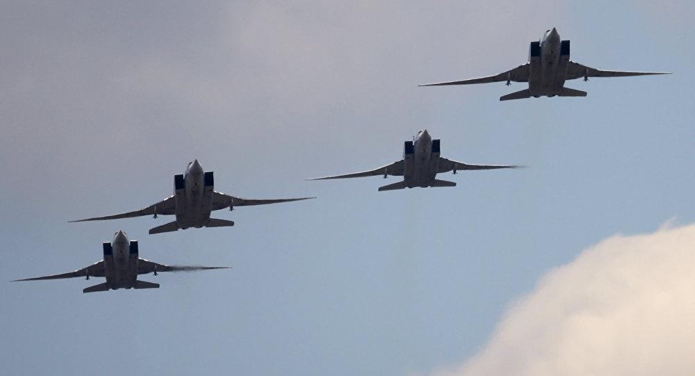 "Photo of قاذفات ""تو-22"" تقصف ""داعش"" في ريف الرقة"