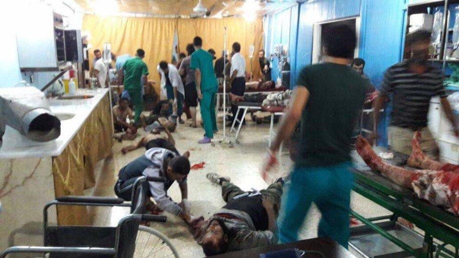 Photo of اكثر من 45 قتيل من المجموعات الارهابية بانفجار عند معبر اطمه الحدودي مع تركيا