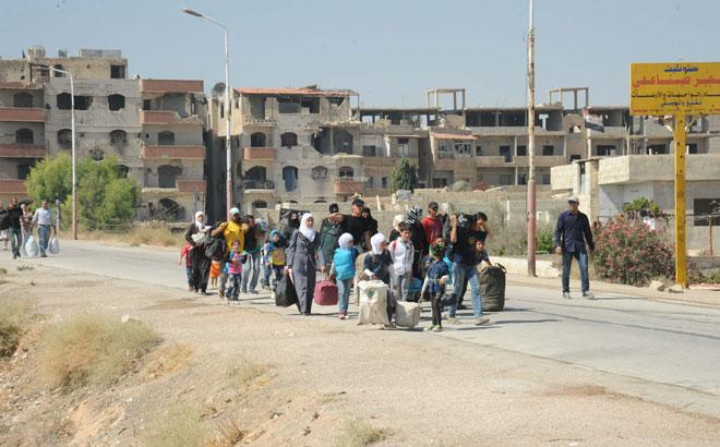 Photo of نقل 303 شخص من المعضمية إلى مراكز حرجلة