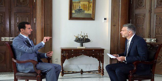 Photo of الأسد: هستيريا الغرب بسبب حلب