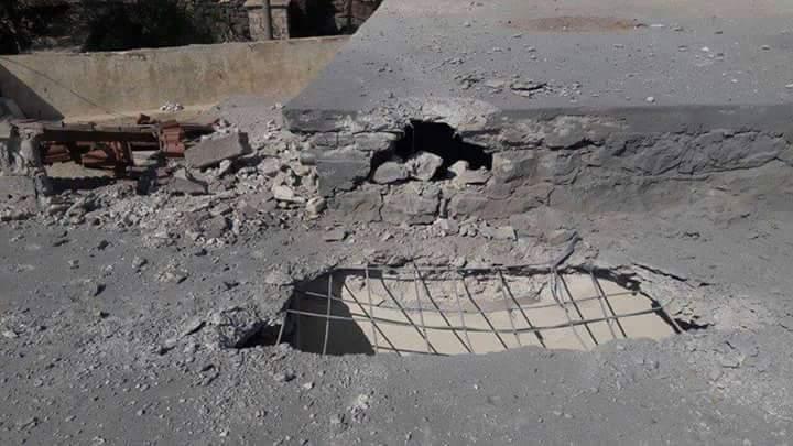 Photo of بالصور- قذائف صاروخية على بلدة حرفا