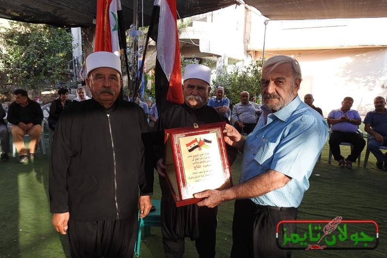 Photo of وفد من الجولان يزور المناضل سعيد نفاع مهنئا