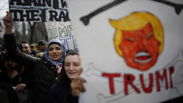 Photo of تظاهرات غاضبة بأمريكا