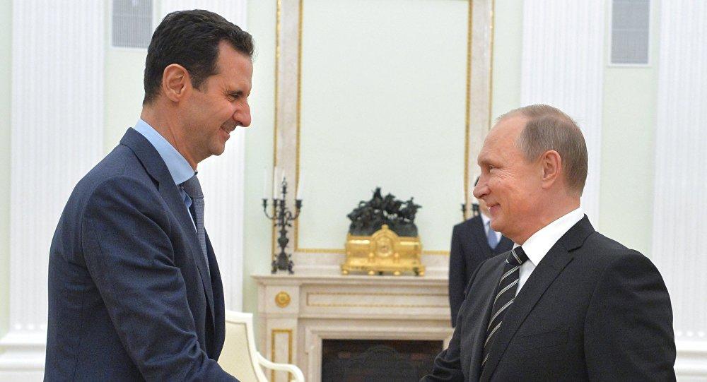 Photo of بوتين يهنئ الأسد بتحرير حلب