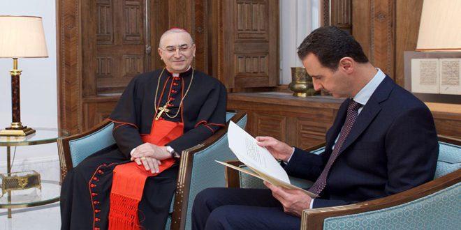 Photo of رسالة من بابا الفاتيكان لرئيس الأسد