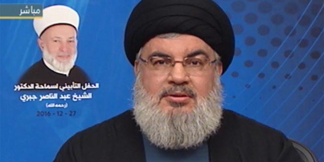 Photo of نصر الله: محور المقاومة سينتصر على الإرهاب