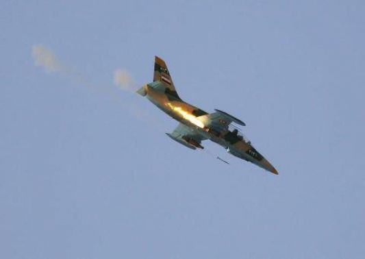 Photo of الطيران الحربي يدمر آليات داعش بتدمر