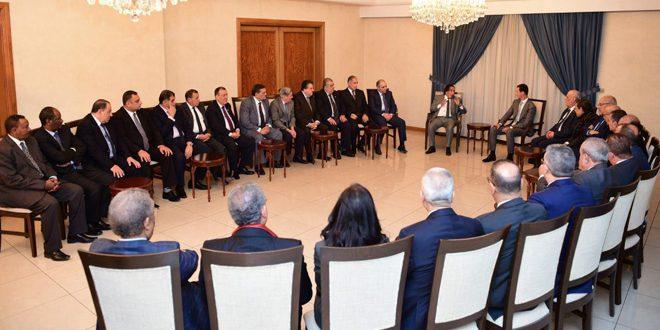Photo of الأسد: اعداء سوريا فشلوا بضرب بنية المجتمع السوري