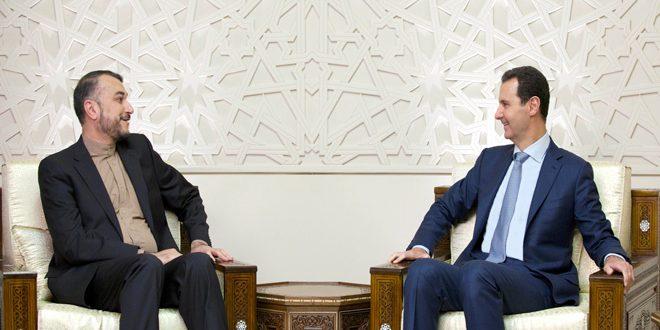 Photo of الأسد يستقبل عبد اللهيان