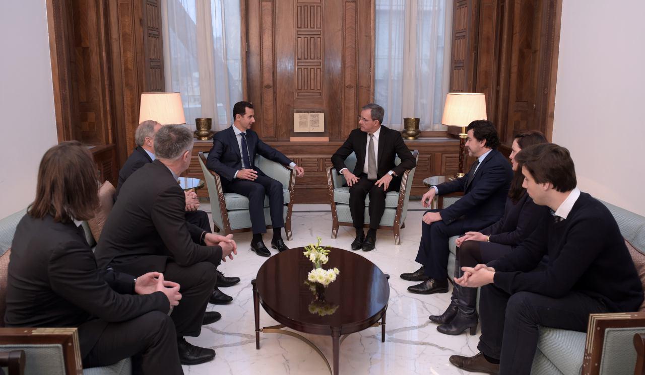 Photo of الأسد يستقبل وفداً فرنسياً