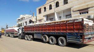 Photo of مساعدات من اللاذقية لأهالي درعا