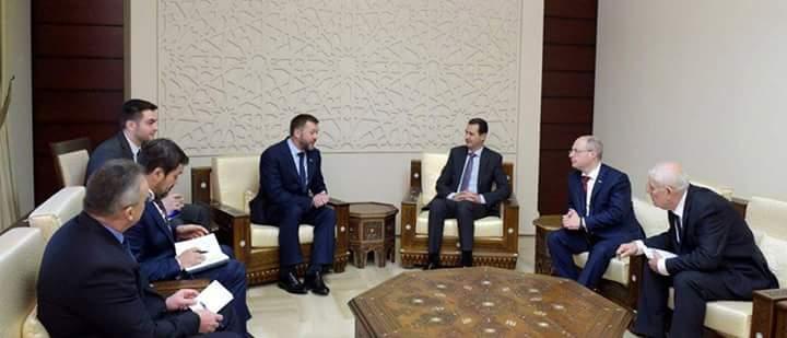 Photo of الأسد يستقبل وفداً من الاتحاد الروسي
