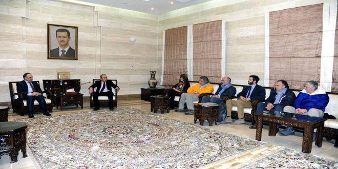 "Photo of رئيس الحكومة يشكر الوفد ""السوري -الايطالي"""