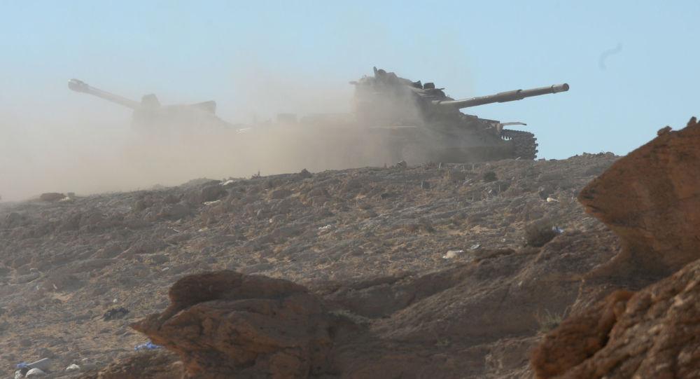 تدمير عربة ونفق لإرهابيي داعش بدير الزور