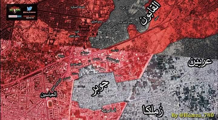 Photo of خريطة سيطرة الجيش بجوبر والقابون