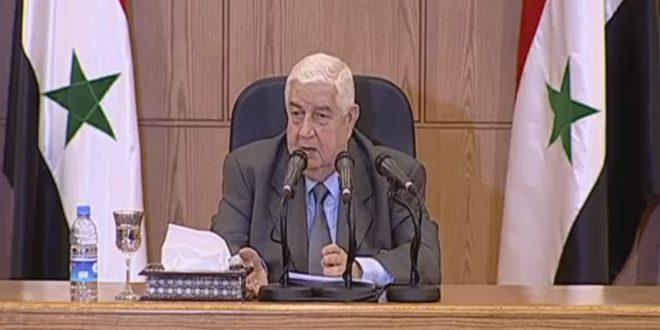 Photo of المعلم: لم ولن نستخدم الكيمائي و كذبة الاستخدام جاءات من قبل دول معادية لسوريا