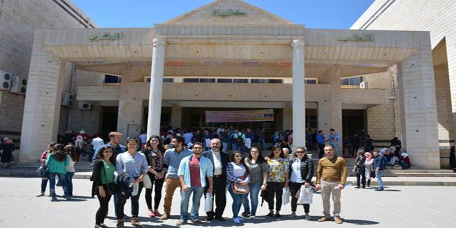 Photo of وفد طلابي فرنسي يزور جامعة البعث ويؤكد على نقل الصورة الصحيحة للحرب السورية