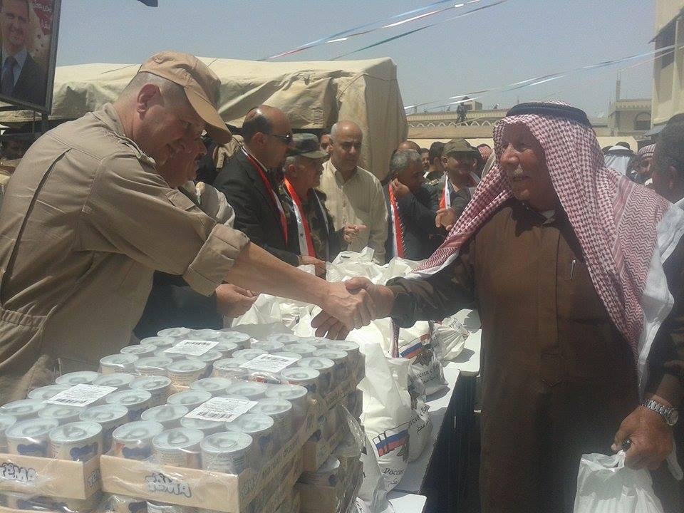 Photo of مساعدات إنسانية روسية بريف درعا