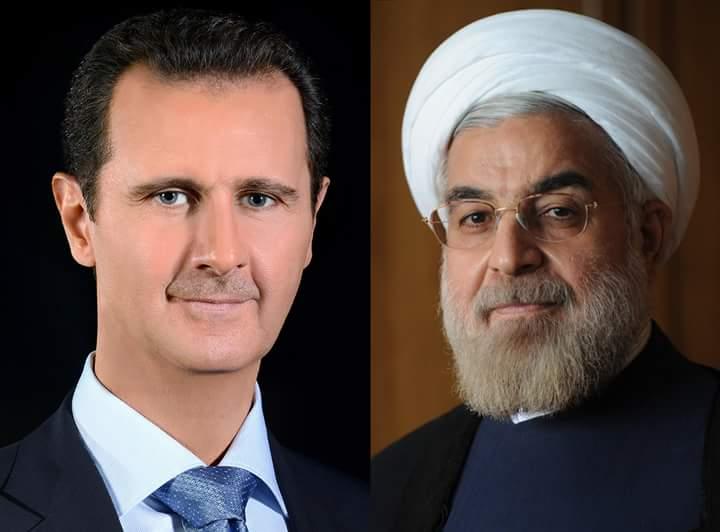 Photo of الاسد يتلقى اتصال هاتفي من روحاني يعرب فيه عن ادانته للعدوان الامريكي