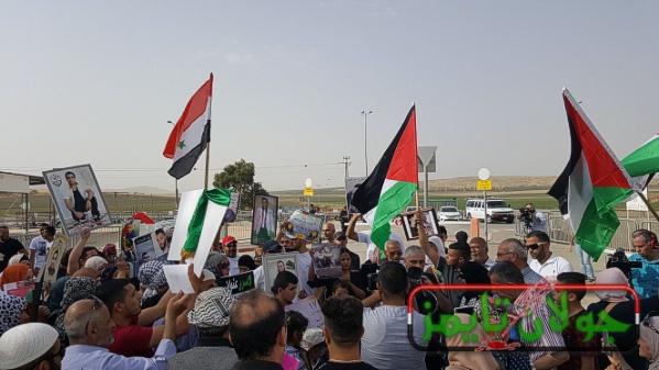 Photo of اعتصام لاهالي اسرى الجولان والجليل والقدس والمثلث امام سجن شطه