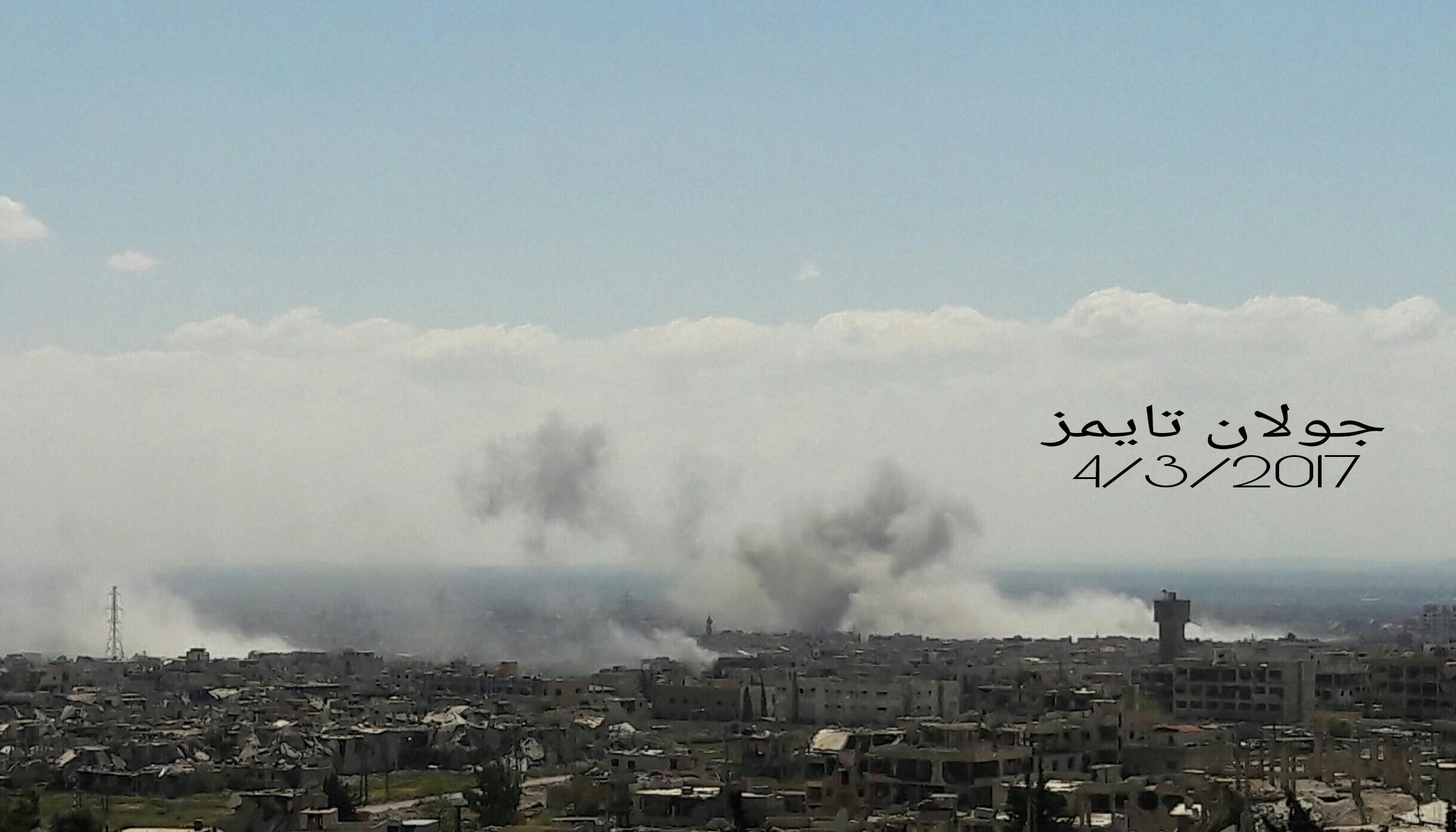 Photo of الطيران الحربي يقصف إرهابيي القابون