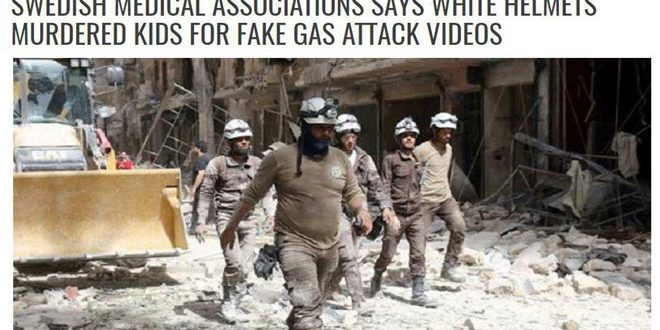 "Photo of أطباء سويديون: ""أصحاب الخوذ البيضاء"" قتلوا أطفالا سوريين عمداً من أجل تصويرهم"