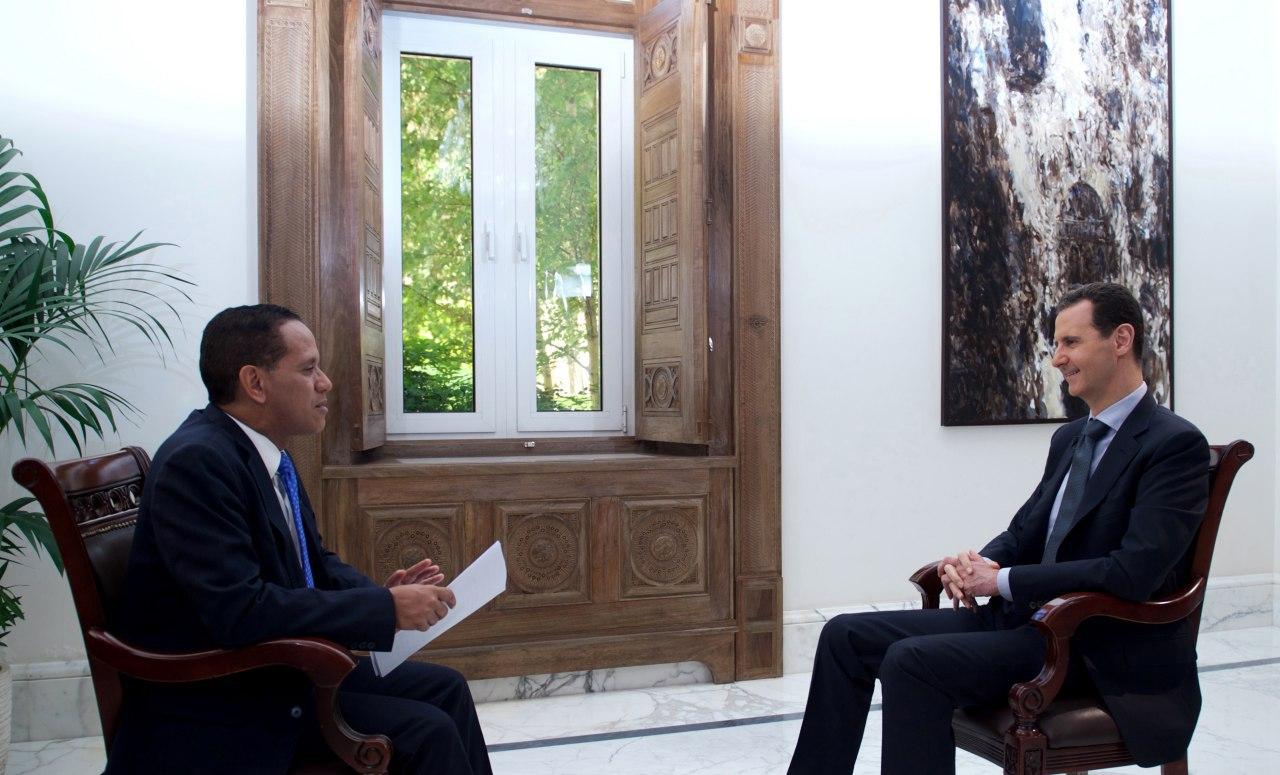 """Photo of الرئيس الأسد: دول """"التحالف الدولي"""" لن تشارك باعادة الإعمار"""