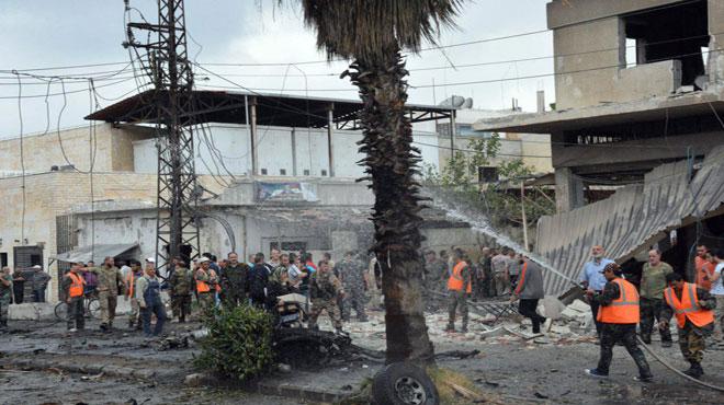 Photo of بالفيديو- تفجير إرهابي بحي الزهراء بحمص