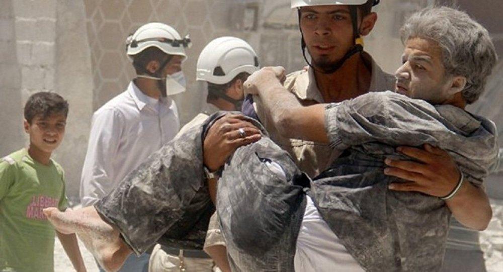 """Photo of """"الخوذ البيضاء"""" تجهز لمسرحية كيميائية جديدة بـ أريحا"""