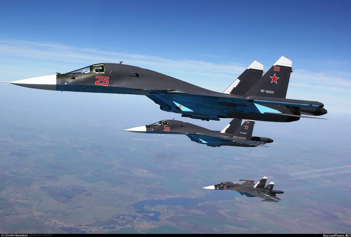 بالفيديو- الطيران الروسي يقضي على 120 إرهابياً بريف تدمر