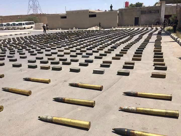 Photo of بالصور- مصادرة اسلحة كانت بطريقها إلى إرهابي الغوطة