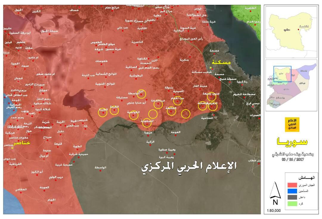 Photo of خريطة سيطرة الجيش بريف حلب الشرقي