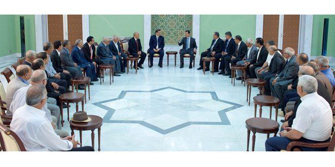 Photo of الأسد يلتقي وفداً تونسياً