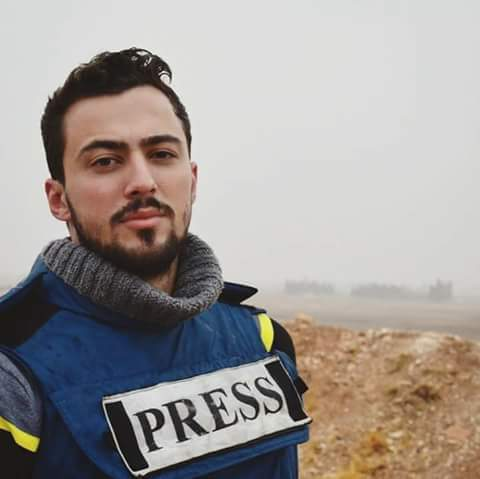 Photo of Journalist Khaled Al Khateb was killed in a shelling by ISIS in the eastern suburb of Homs